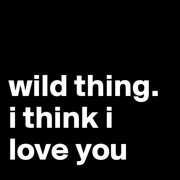 wild thing. i think i love you