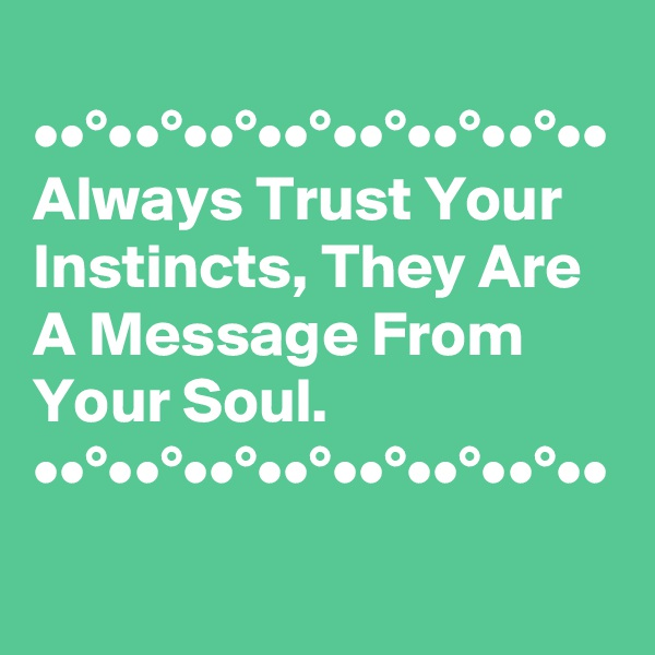 ••°••°••°••°••°••°••°•• Always Trust Your Instincts, They Are A Message From Your Soul. ••°••°••°••°••°••°••°••
