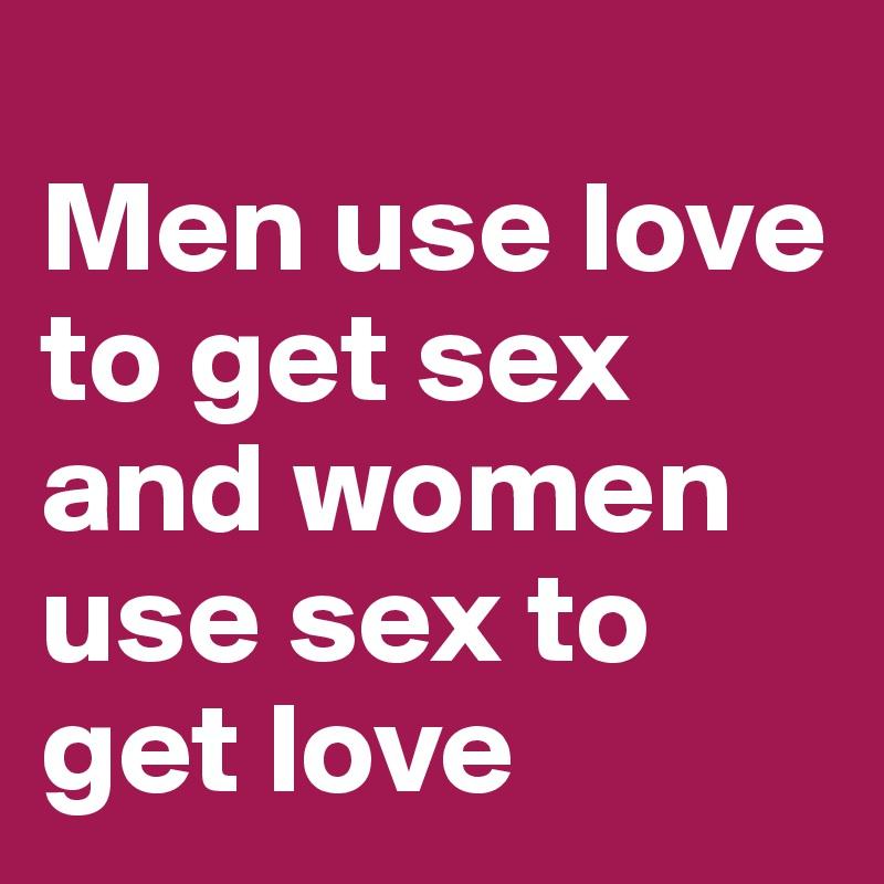 Sexy love between men and women