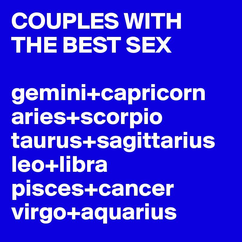Sagittarius and aquarius sexuality