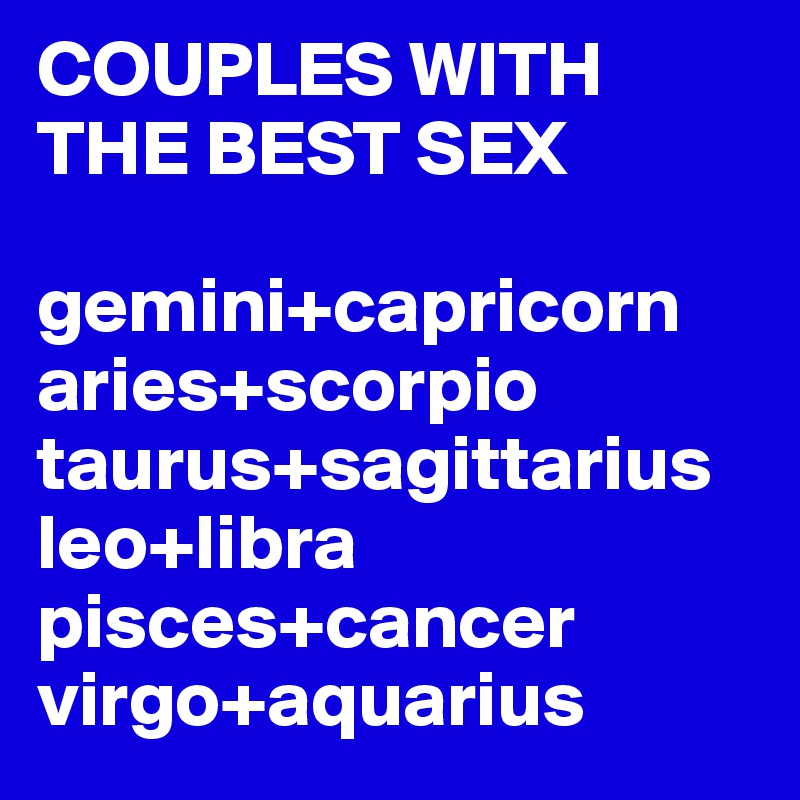 Aquarius and scorpio sex