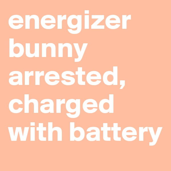 energizer bunny arrested, charged with battery