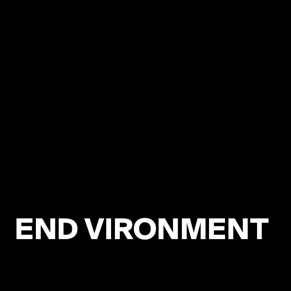 END VIRONMENT