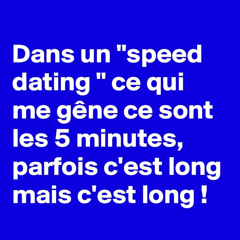 quest ce que cest un speed dating