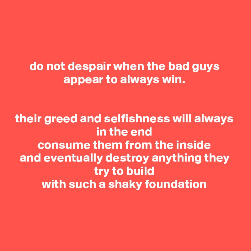 Image result for the bad guys always win