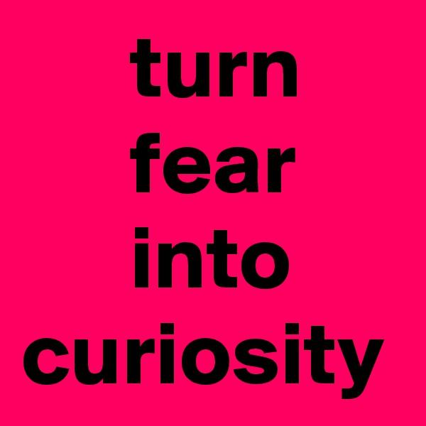 turn       fear       into   curiosity