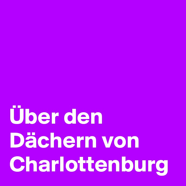Über den Dächern von Charlottenburg