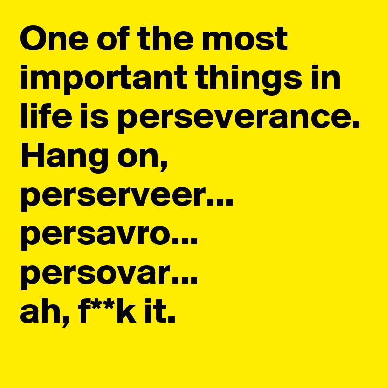why is perseverance important in life