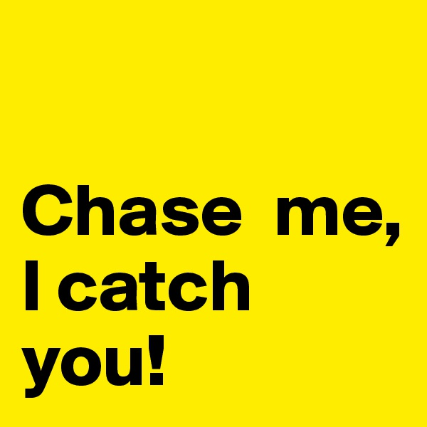 Chase  me,  I catch you!