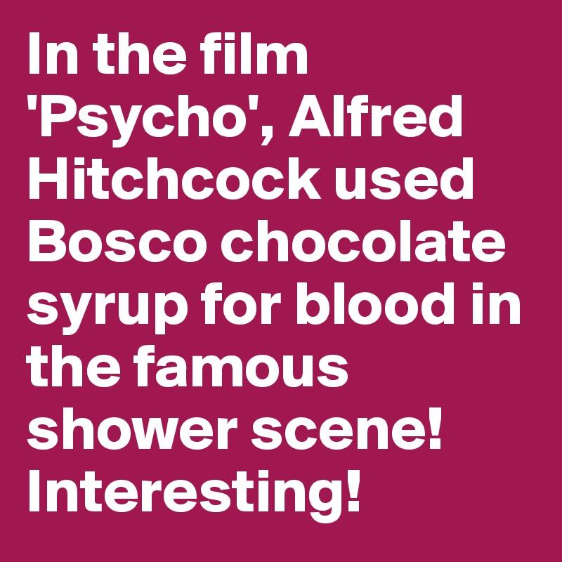 psycho shower scene blood