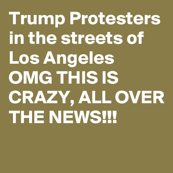 Trump Protesters in the streets of Los Angeles  OMG THIS IS CRAZY, ALL OVER THE NEWS!!!