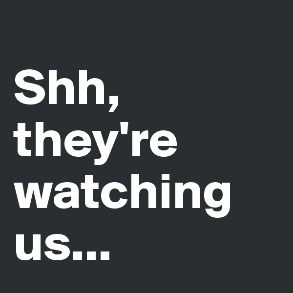 Shh, they're watching us...