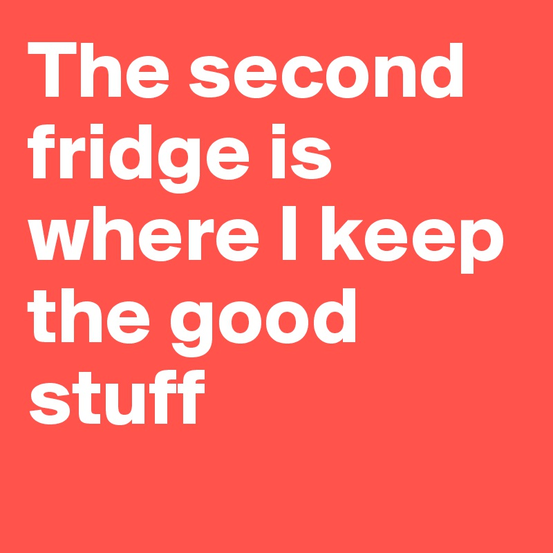 The second fridge is where I keep the good stuff