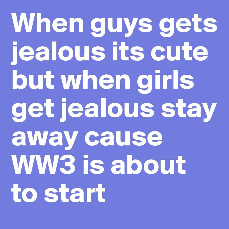 why a man gets jealous