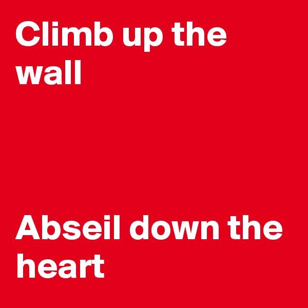 Climb up the wall    Abseil down the heart