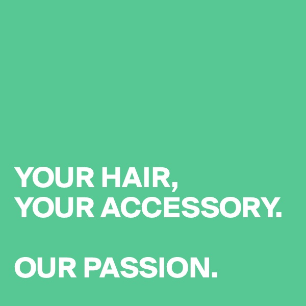 YOUR HAIR, YOUR ACCESSORY.  OUR PASSION.