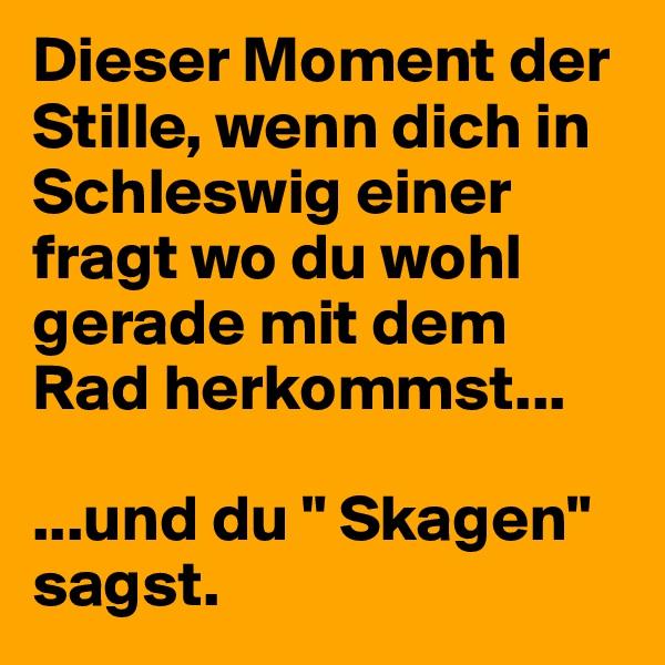 """Dieser Moment der Stille, wenn dich in Schleswig einer fragt wo du wohl gerade mit dem Rad herkommst...  ...und du """" Skagen"""" sagst."""