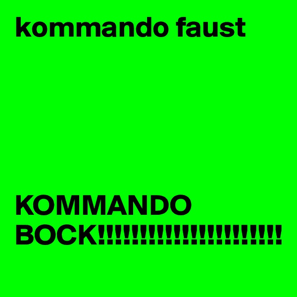 kommando faust      KOMMANDO BOCK!!!!!!!!!!!!!!!!!!!!!!
