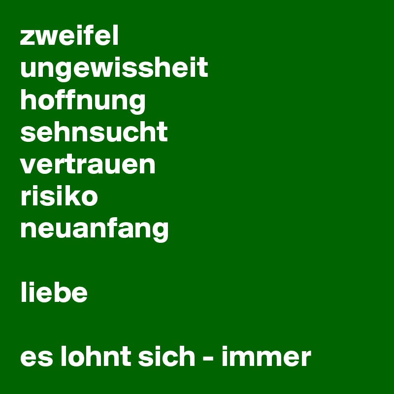 Liebe Neuanfang What Does Liebe Mean 2019 10 07