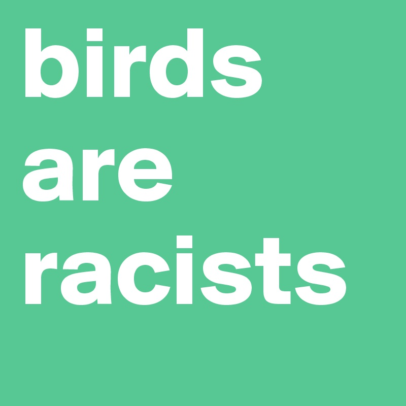 birds are racists