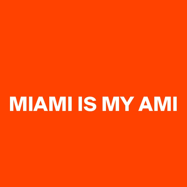 MIAMI IS MY AMI