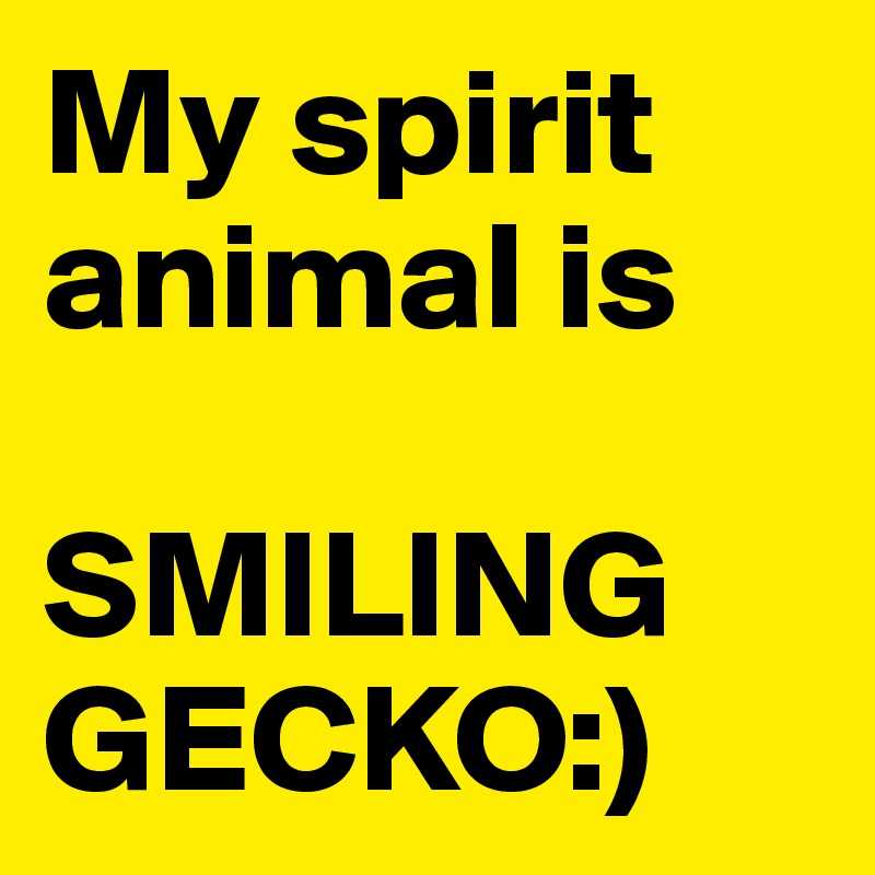 My spirit animal is   SMILING GECKO:)