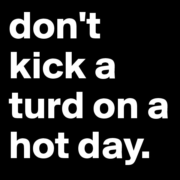 don't kick a turd on a hot day.