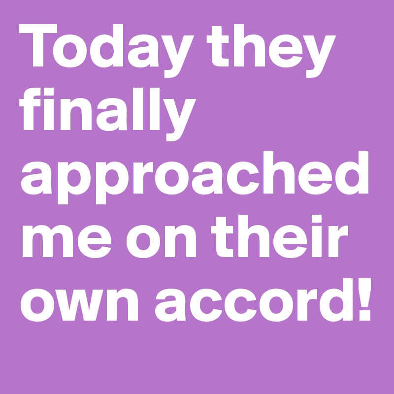 Today they finally approached me on their own accord!