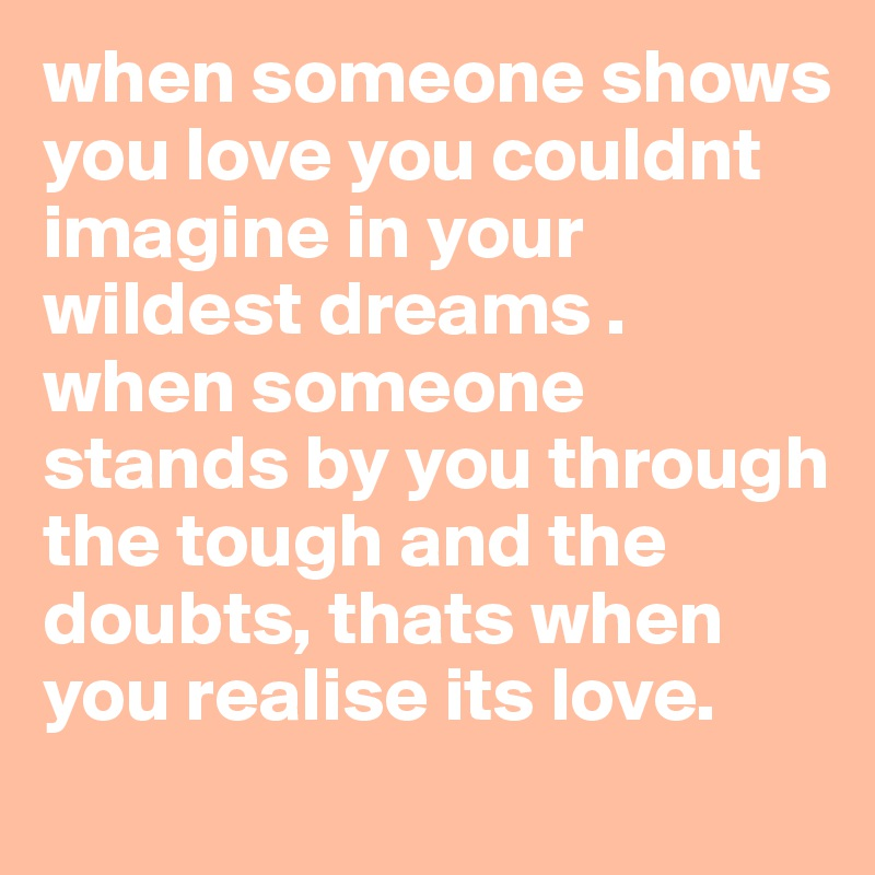 dreams about someone you love