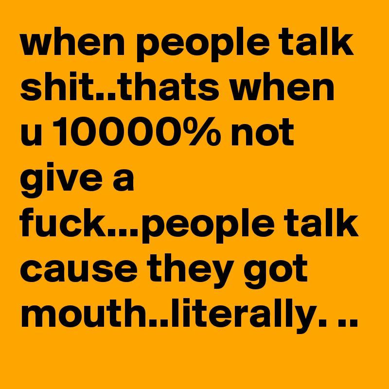 Talk and fuck