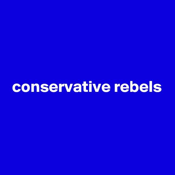 conservative rebels