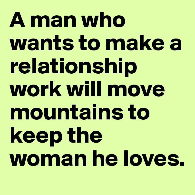 How do you make a relationship work