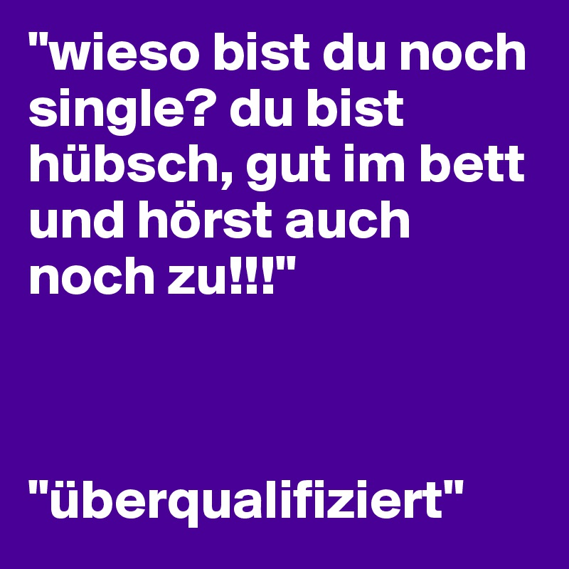 single warum