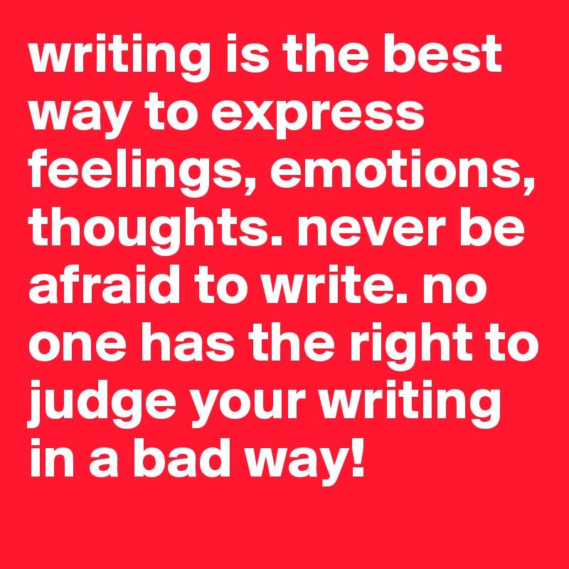 感情を表現するための書く