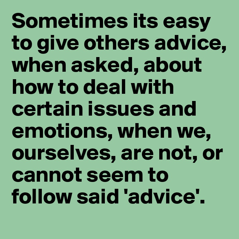 How about we advice