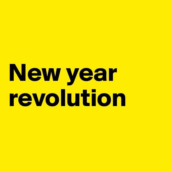 New year  revolution