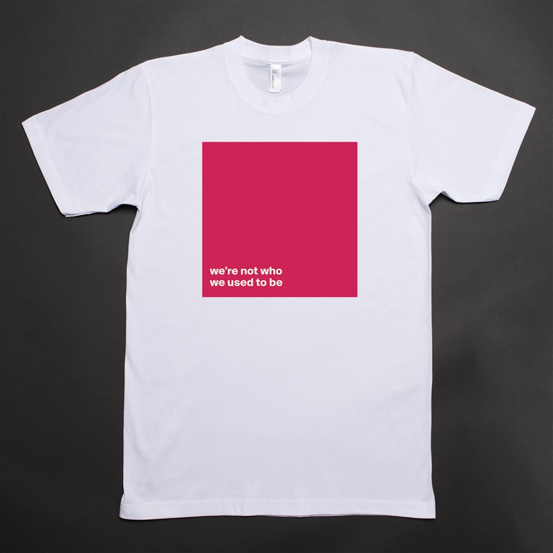 we're not who  we used to be White Tshirt American Apparel Custom Men