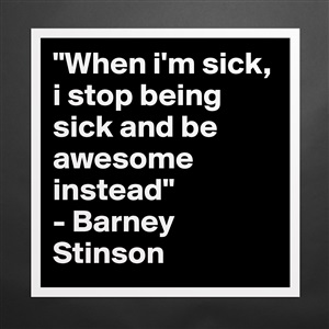 and be awesome instead