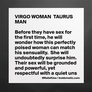 Museum-Quality Poster 16x16in «VIRGO WOMAN TAURUS MAN Before they have sex  for th   »